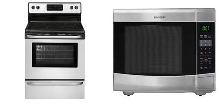 Frigidaire CFEF3024RS Range Frigidaire CFCM1134LS Countertop Microwave ...