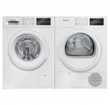 "Bosch WAT28400UC 24"" Front load Washer with 2.2 cu.ftBosch WTG86400UC 24"" Compact Electric Dryer with 4.0 cu. ft."