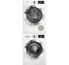 "Bosch WAT28402UC 24"" Front Load Washer with 2.2 cu. ft.Bosch WTG86402UC 24"" Compact Electric Dryer with 4.0 cu. ft."