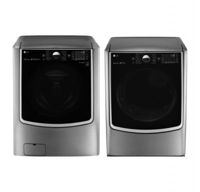 LG WM9000HVA 6.0 cu.ft. Front Load Washer<br>LG DLEX9000V 9.0 cu.ft. Gas Dryer