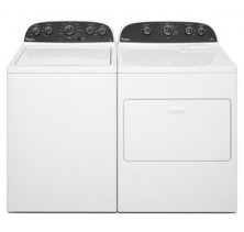 1)Whirlpool WTW4850BW Top Load Washer 27 in with 4.2 cu. ft. Capacity, 11 Wash Cycles, 5 Water Temperatures<br>2)Whirlpool YWED4850BW Electric Dryer 29 in with 7.0 cu. ft. Capacity, 6 Cycles, 4 Temperature Settings